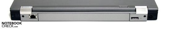 Rear: Modem (optional), LAN, display port, DC-in