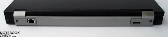 Back side: (modem);LAN, display port, power socket