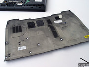 ...the generous magnesium servicing plate can be taken off on the  bottom side of the notebook.