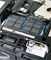 In the case of the RAM, the faster DDR3 memory modules are already used with a speed of up to 1066 MHz.