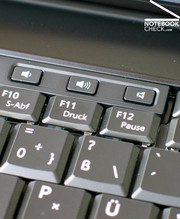 The E6500 offers only three add-on keys which control the sound out.