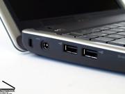 Mit seinen insgesamt drei USB Ports gibt sich das Inspiron Mini durchaus großzügig.