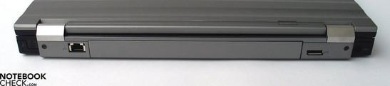 Back Side:  (Modem), LAN, Display Port, Power Connector