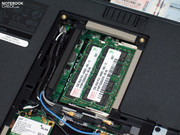 Our test sample received an Intel P8600 CPU and an ATI HD4570 graphic card for this purpose.