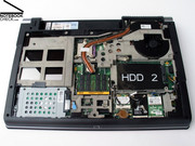 The Dell Studio 17 can provide up to 640GB hard disk gross capacity, because it has two hard disk slots.