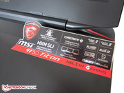 MSI advertises several features for the GT80.