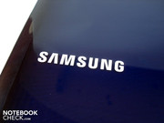 A Samsung logo adorns the display lid.