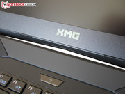 Above the power button is the XMG logo.
