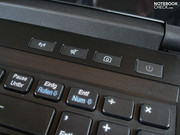 The keys above the keyboard have a nice typing feel.
