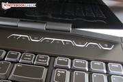 We can't figure out why Alienware installed the touch pad somewhat toward the left.