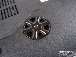 Subwoofer on the case's bottom