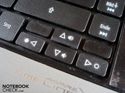 The cursor keys are not very high