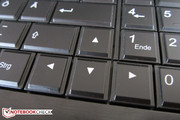 The enter key is also single-row on the German QWERTZ keyboard.