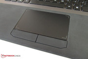 The touchpad entices users with its size.
