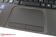Our model has a recessed touchpad with a roughened surface.