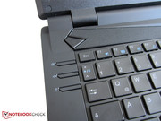 Three extra keys are mounted on the left of the keyboard.