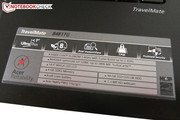 The TravelMate 8481TG has a number of security features.