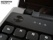 The round power button is a trademark of Aspire notebooks.