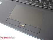 The touchpad has a fingerprint reader.
