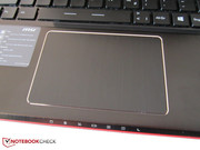 Few 15-inch models offer such a large touchpad.