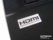 The HDMI sticker is the only sticker on the case