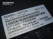 Notebook specs on the case base