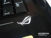 """Republic of Gamers"" logo on the wrist rest"