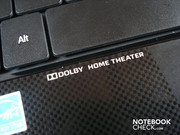 The subnotebook supports Dolby Home Theater.