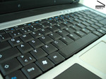 The keyboard of the MSI M635 can be used pleasantly and quietly.