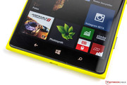 The three typical touch buttons from Windows Phone are below the screen.