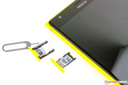 The SIM and micro SD cards are easy to remove.