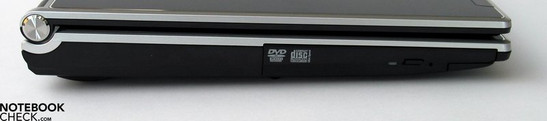 Left Side: optical drive