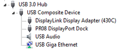 USB network and audio in the device manager