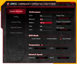 MSI Dragon (System idle)