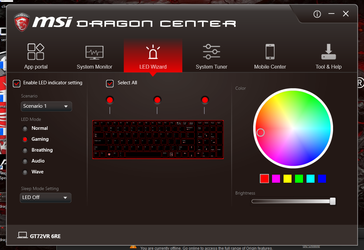 RGB keyboard settings
