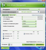 Picture: With Acer ePower Management you have all energy options under control.