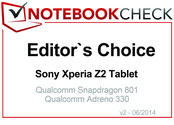 Editor's Choice in June 2014: Sony Xperia Z2 Tablet