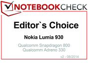 Editor's Choice in August 2014: Nokia Lumia 930