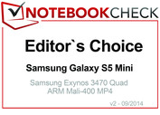 Editor's Choice in September 2014: Samsung Galaxy S5 Mini