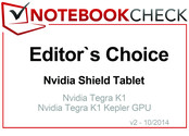 Editor's Choice in October 2014: Nvidia Shield Tablet