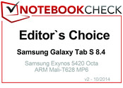 Editor's Choice in October 2014: Samsung Galaxy Tab S 8.4