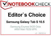 Editor's Choice in September 2014: Samsung Galaxy Tab S 10.5