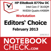 Award HP EliteBook 8770w DreamColor