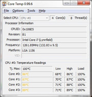 High temperature of the graphic card