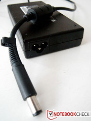 Fairly slim but hot 120W power adapter