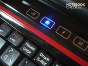 Express Gate light on the touch sensitive bar