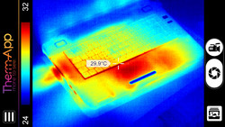 Thermography: Hotspots are easily visible