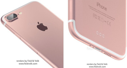 User-made renderings of the iPhone 7 Plus based on existing leaks (Source: Feld & Volk)