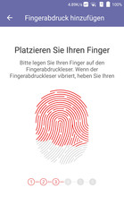Setup fingerprint