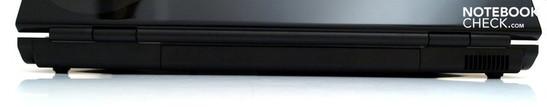 Rear: Battery, fan